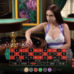 Carton des tables de roulettes en ligne avec croupiers en direct auprès des internautes